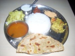 Dinner Thali at Venkateshwara