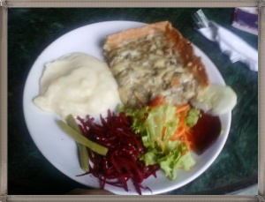 Mushroom Tart and Mashed Potato Salad