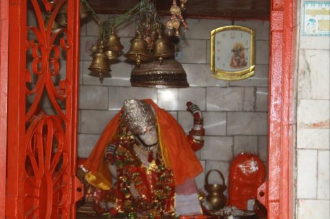 Lord Hanuman inside the temple..