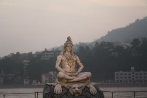 Lord Shiva at the Parmarth Temple