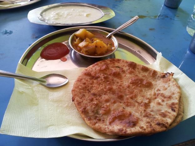 Amazing breakfast at New Jalpaiguri