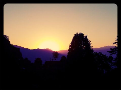 Early Sunset at Darjeeling