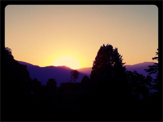 Early Sunset at Darjeeling