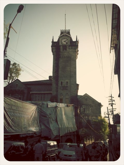 Darjeeling municipality building tower clock. Since 1850.