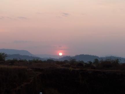 Sunrise at Murdeshwar Railway Station