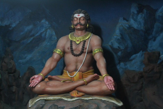 Ravana Praying to Lord Shiva