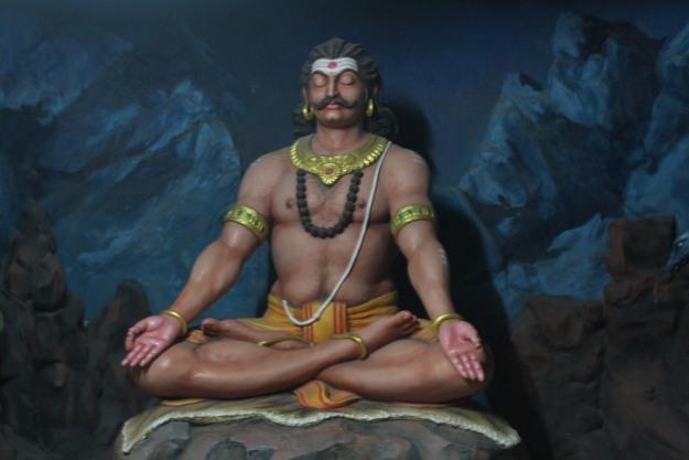 Ravana Praying to Lord Shiva