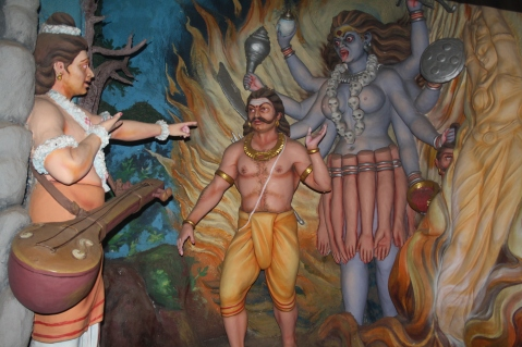 Narada talking to Ravana