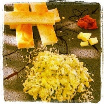 Scrambeled Eggs - Continental Style, Food, Eggs, Omlette, Bhurji, Goa Food