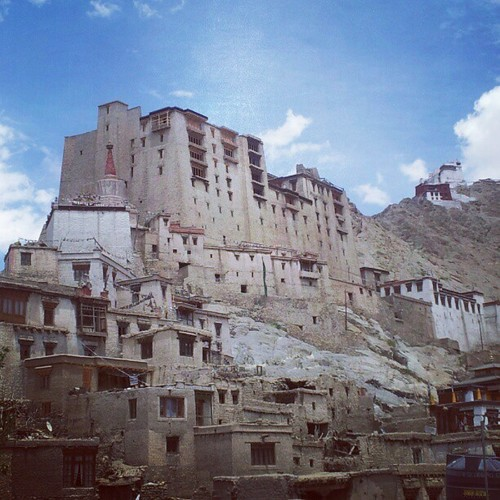 A picture of Leh palace clicked from a restaurant