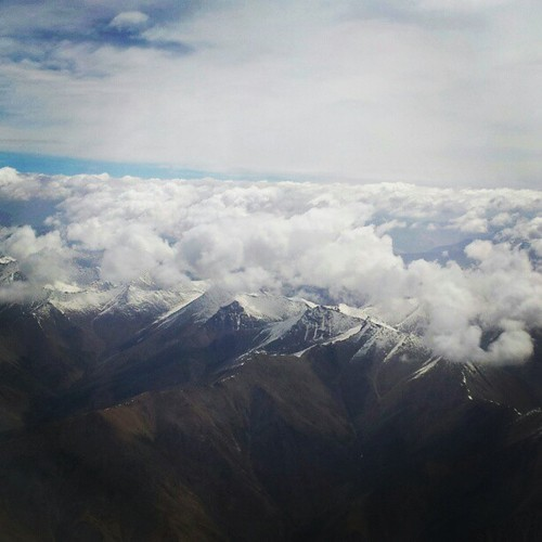 A view of Leh, Ladakh while flying down...