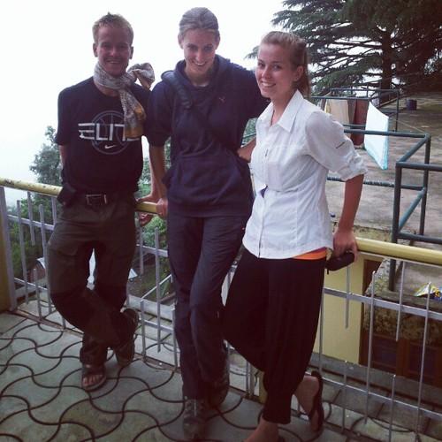 A nice bunch of German and Finnish travellers I met, David, Katharina & Malin…. Summer volunteers, nice kids :)
