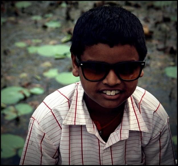 Idranna a local kid at the Lakshmi Temple