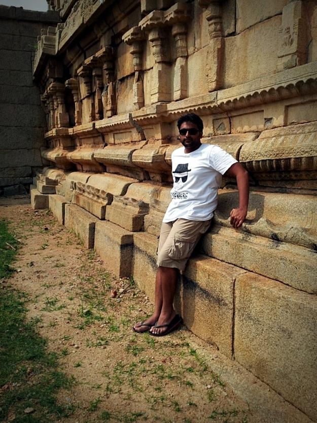 Me outside Krishna Temple