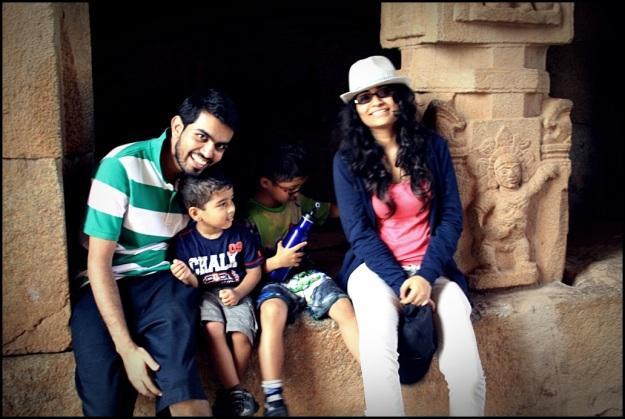 Mel & Rahul with some kids we met inside