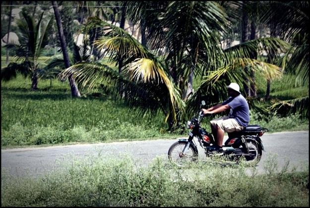 Riding away...