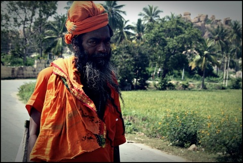 Sadhu Baba outside Anegundi