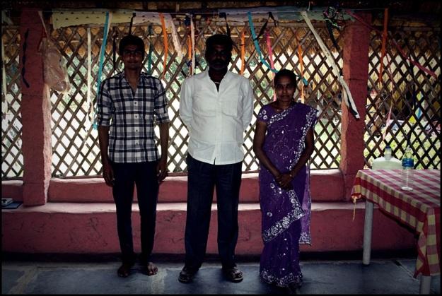 Mr. Srinivas and his family from Hampi Gowri