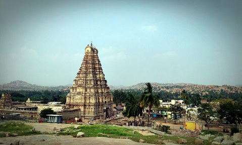 Virupaksha Temple From Hemakuta Hills