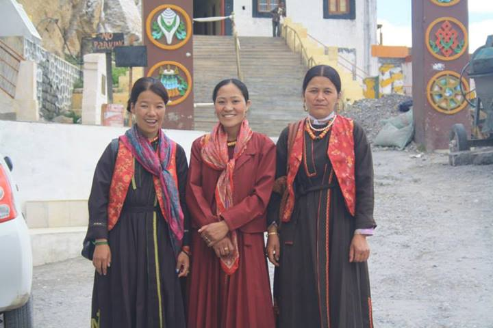 Local women outside the monastery