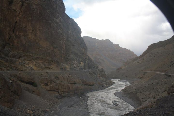 Beautiful Terrain as we approach Kaza