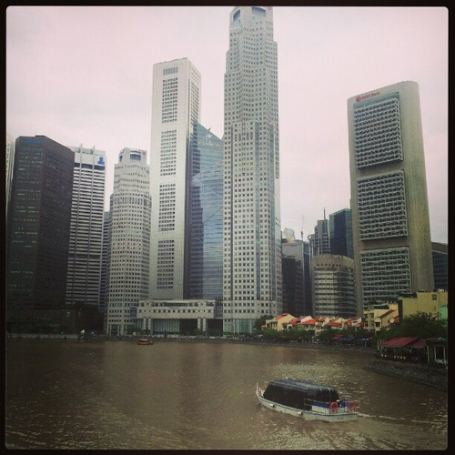 A view from Boat Quay