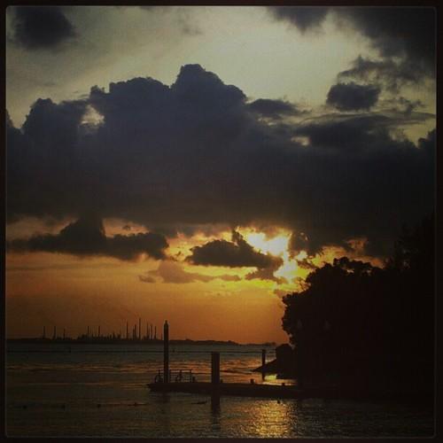 Sunset at Siloso Beach - Sentosa