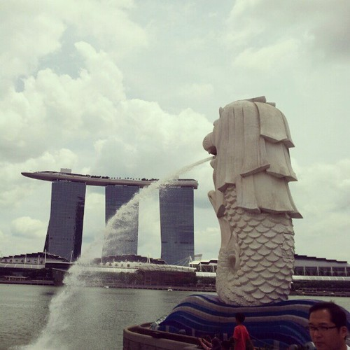 The Merlion and Marina Bay Sands