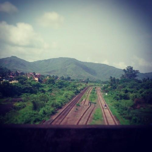 Railway tracks enroute Kolad