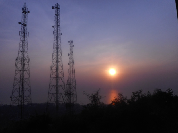 Sunset from the Murud Hill top