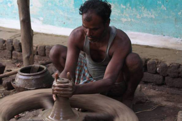 Tukaram Potter at work