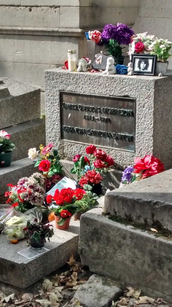 Jim Morrison, Pere Lachaise Cemetery, Paris, France, Europe, Srinivas, Travel Blogger